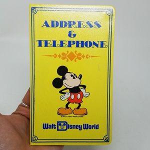Vintage 60s Mickey Mouse Disney World address book